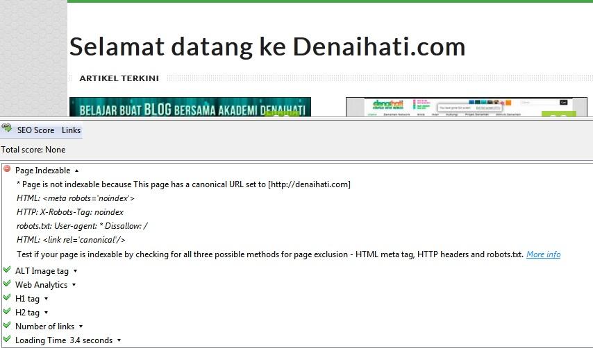 Review Denaihati Page Indexable