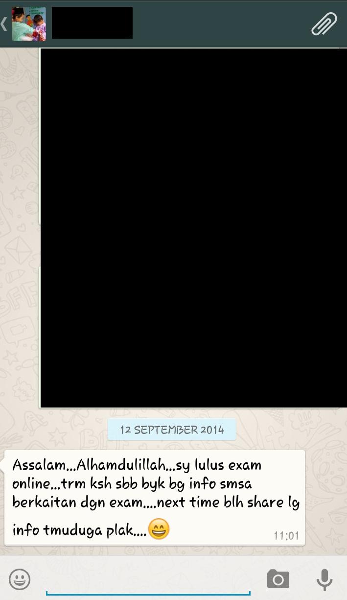 Exam PTD Testimoni 3