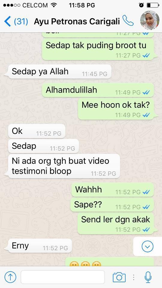 Testimoni Dadih Sedap di Kuala Lumpur 2