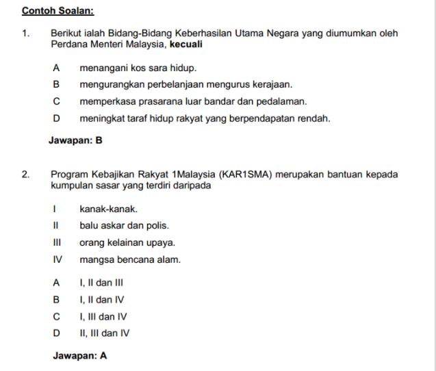 Soalan Pengetahuan Am Pegawai Penerangan S41