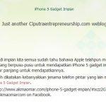 AkmaOmar, profhariz memohon maaf untuk iPhone 5 Gadget Impian