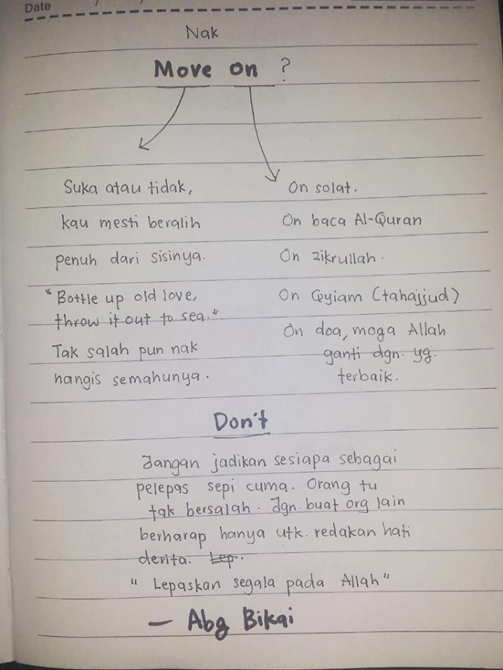 Tips Nak Move On