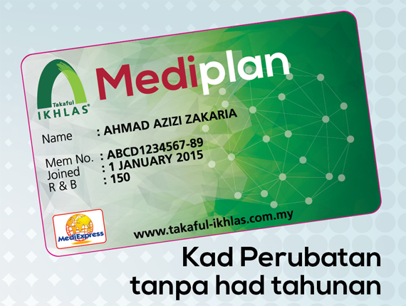 Harga Medical Card Takaful Ikhlas