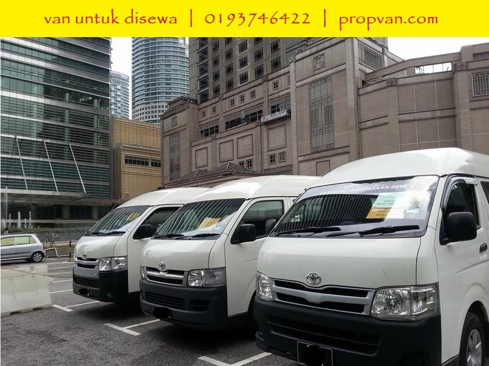 Sewa Van Toyota Hiace Kuala Lumpur