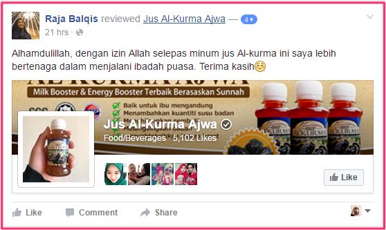 Testimoni Pengguna Jus Al-Kurma 2