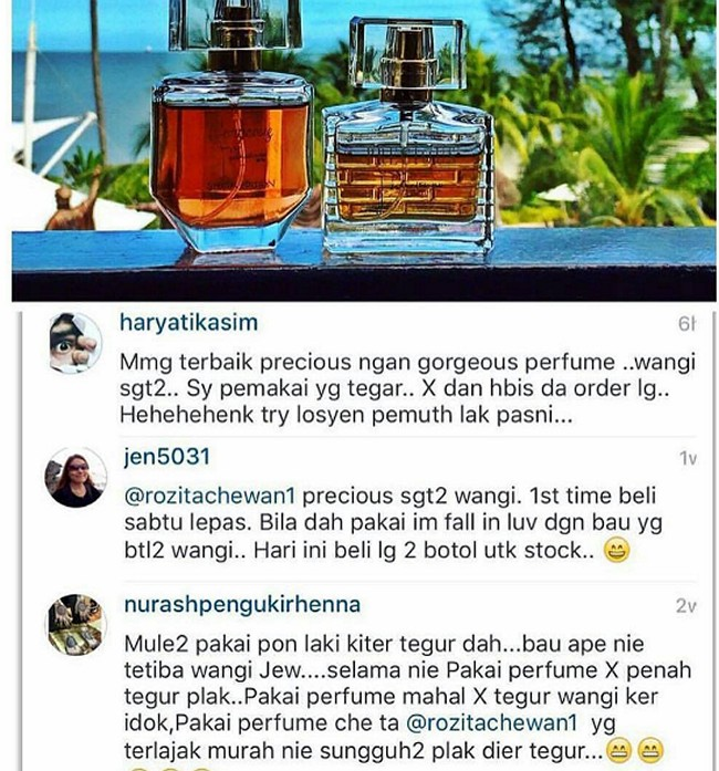testimoni minyak wangi che ta