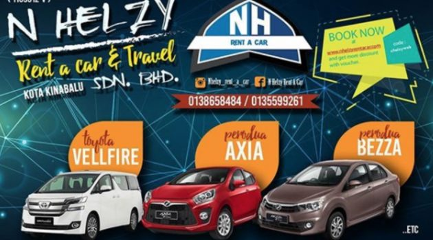 Helzy Ret A Car and Travel Sdn Bhd Sewa Kereta Murah Di Kota Kinabalu Dari RM56 Sehari