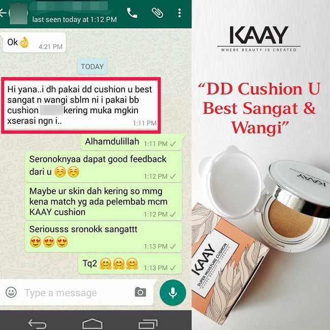 testimoni-super-moisture-cushion-foundation-1 Tips Hilangkan Kedut Muka