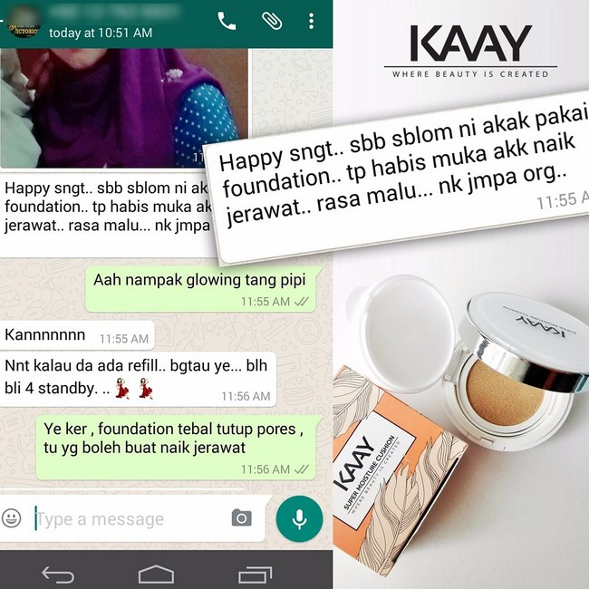 testimoni-super-moisture-cushion-foundation-2 Tips Hilangkan Kedut Muka