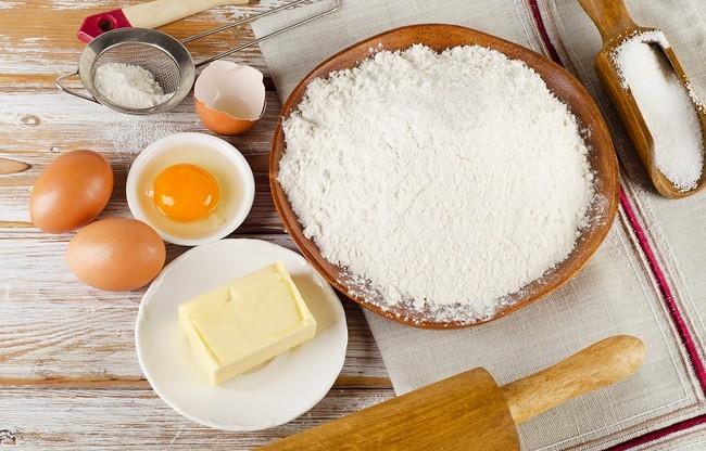 bahan membuat kek
