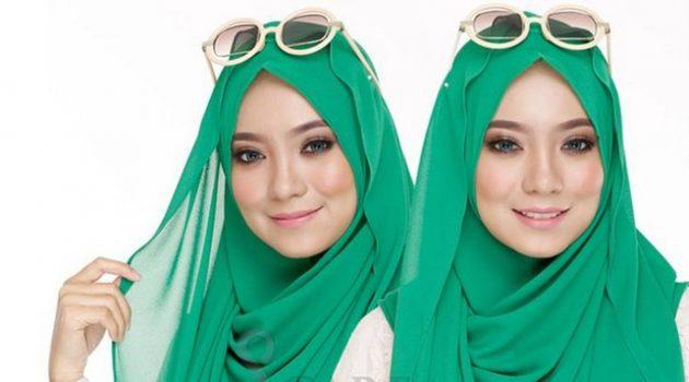 tudung instant shawl hijau