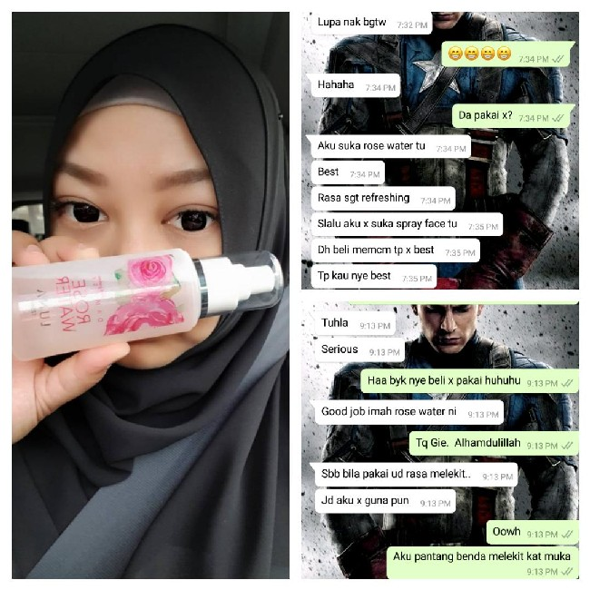 testimoni-pengguna-rosewater-spray-dan-The-Mermaid-Drop-Foundation 2