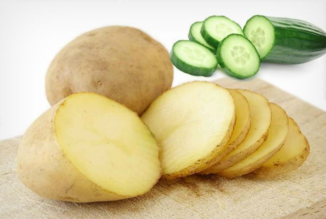 cara-hilangkan-sunburn-dengan-kentang-timun