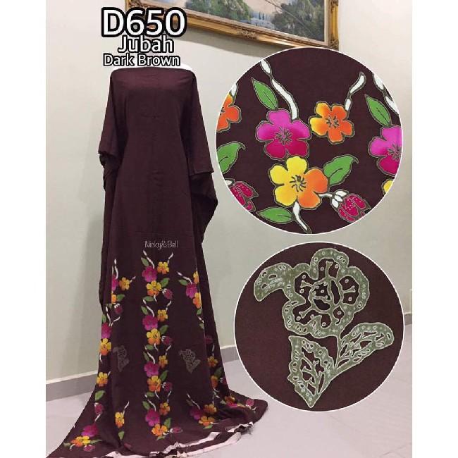 jubah-dark-brown-cantik-dari-kain-batik