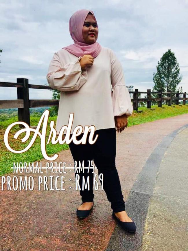 koleksi arden plus size malaysia blouse