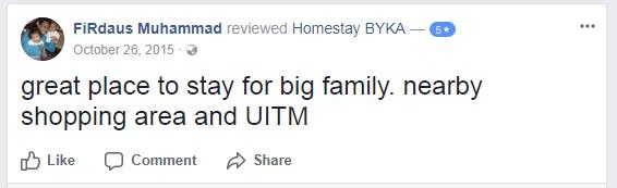 testimoni-1-homestay-bika-shah-alam