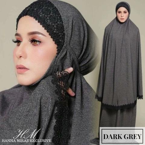 Telekung Online Murah dark grey