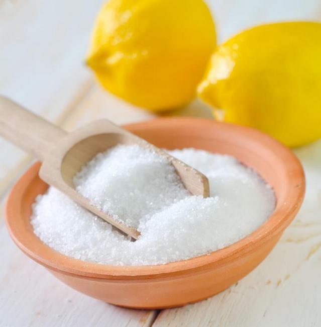 asid citrik mencairkan karat pada besi