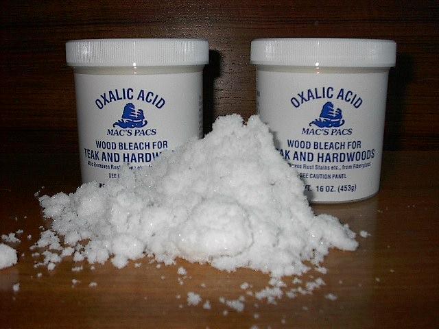 asid oksalik untuk hilangkan karat besi dengan cepat