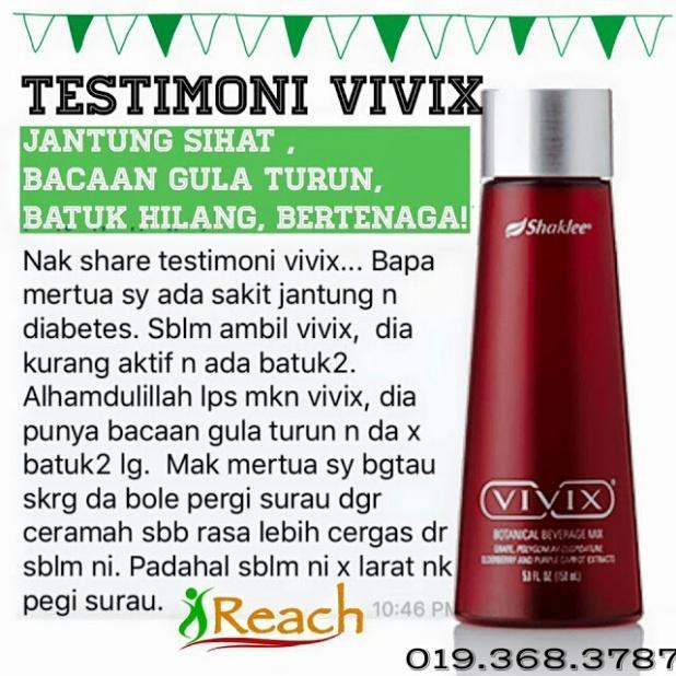 bacaan gula turun selepas minum vivix