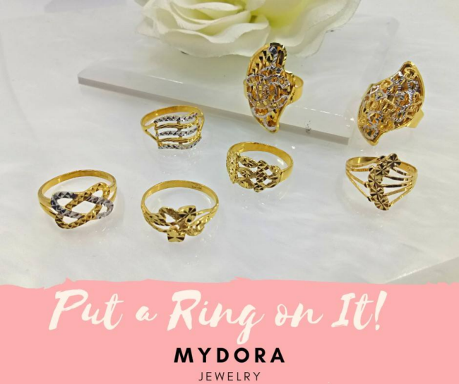 banyak pilihan emas 916 di mydora jewelry