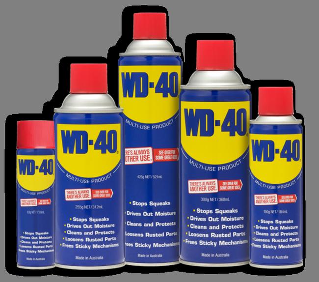 cecair anti karat WD-40 terkenal untuk hilangkan karat