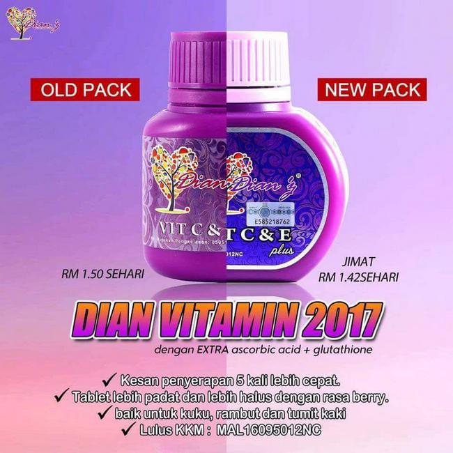 kebaikan vitamin c dan e untuk kulit muka kusam