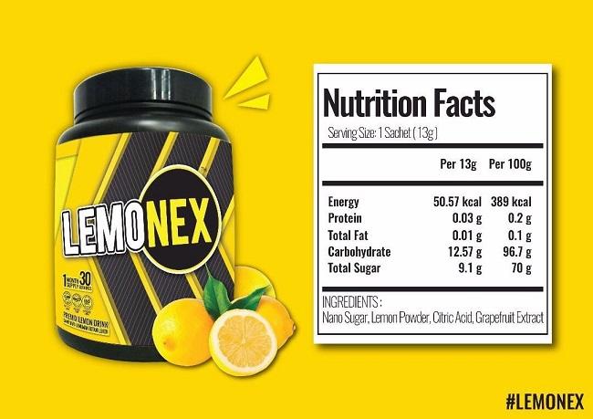 lemonex advanced produk kuruskan badan dan detox