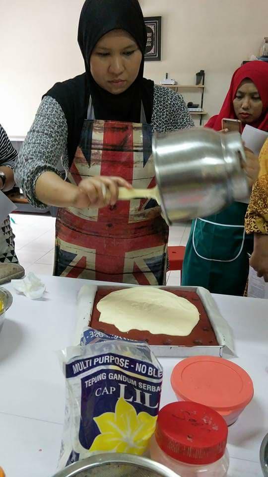 membuat kek coklat bajet