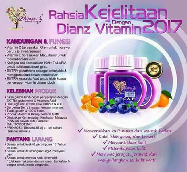 rahsia vitamin c dan e untuk kulit muka kusam