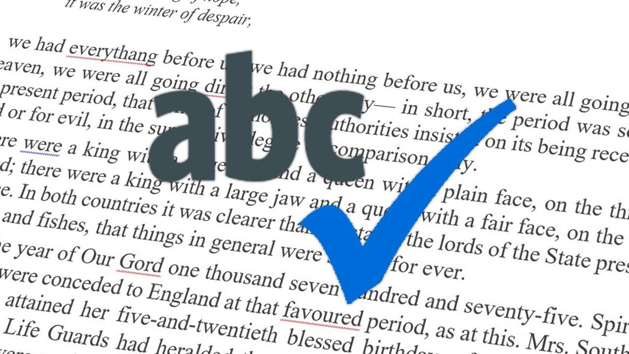 semak ejaan untuk proofreading tesis