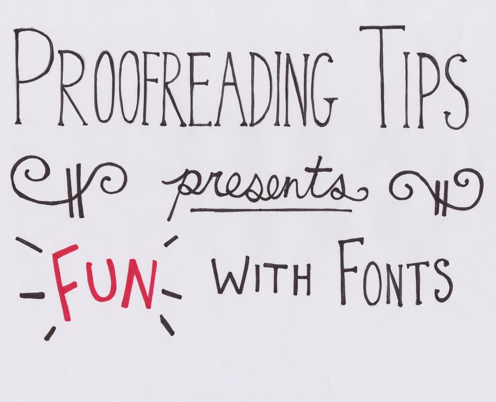 teknik proofreading tesis dengan tukar font
