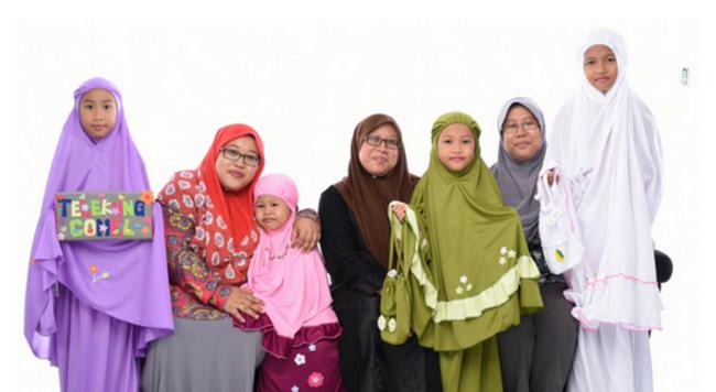 telekung kanak-kanak pilihan rakyat malaysia