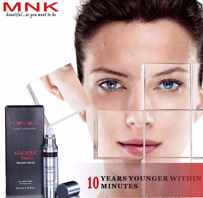 kebaikan menggunakan MNK Magique Skinz Spray