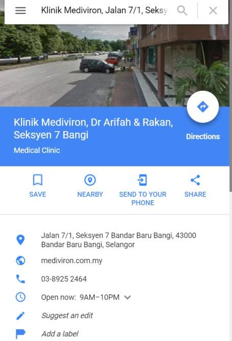 Klinik Terbaik Di Bangi dan Mudah Di Cari