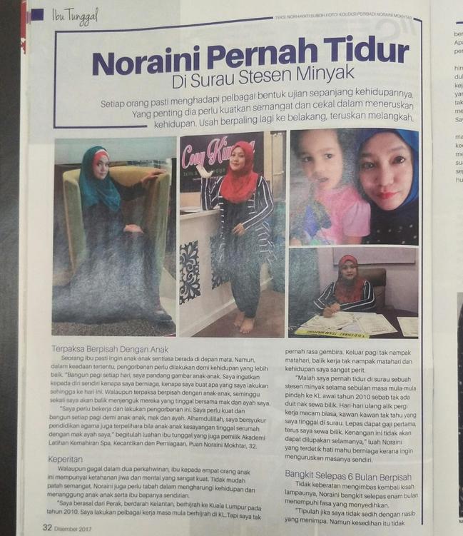 cony kimora dalam majalah mingguan wanita