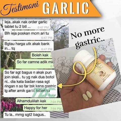 garlic tablet atasi gastrik