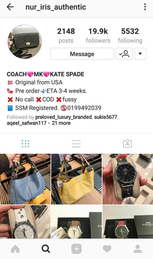 instagram nur iris authentic penjual jam berjenama original