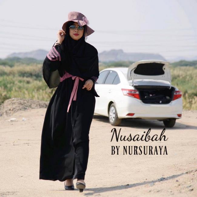 fesyen jubah abaya nampak langsing