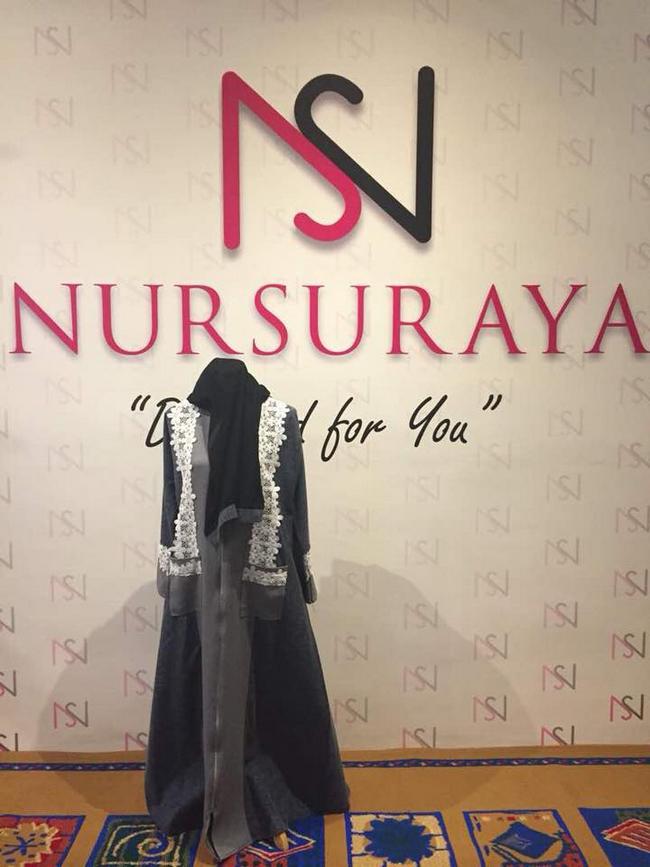 fesyen jubah abaya dengan set tudung