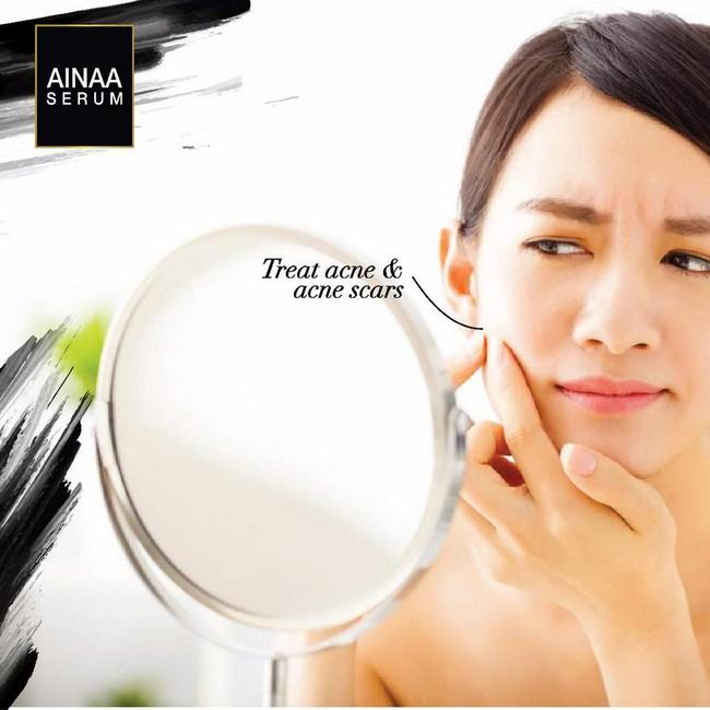 kelebihan menggunakan ainaa serum untuk cantikkan kulit untuk mangatasi jerawat