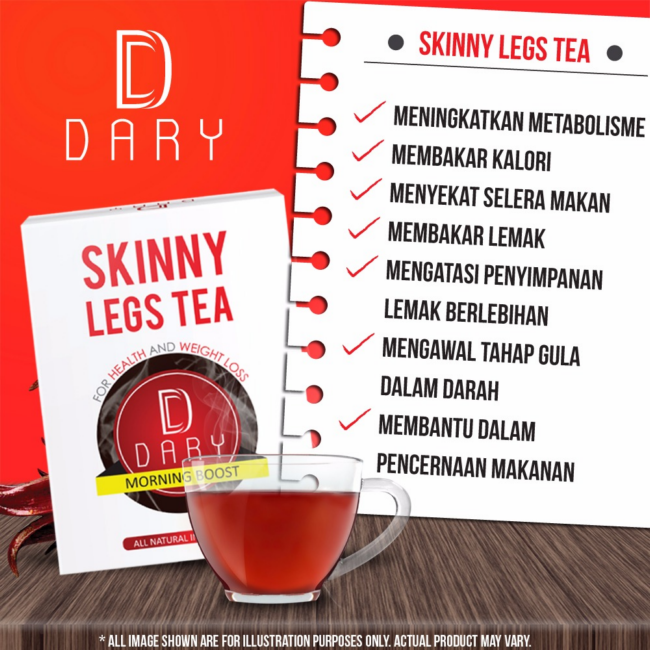 kelebihan skinny leg tea dan slimming body tea