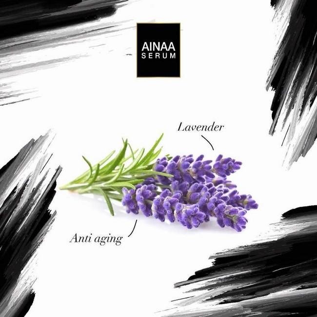 lavender dalam ainaa serum untuk meremajakan kulit dengan cepat