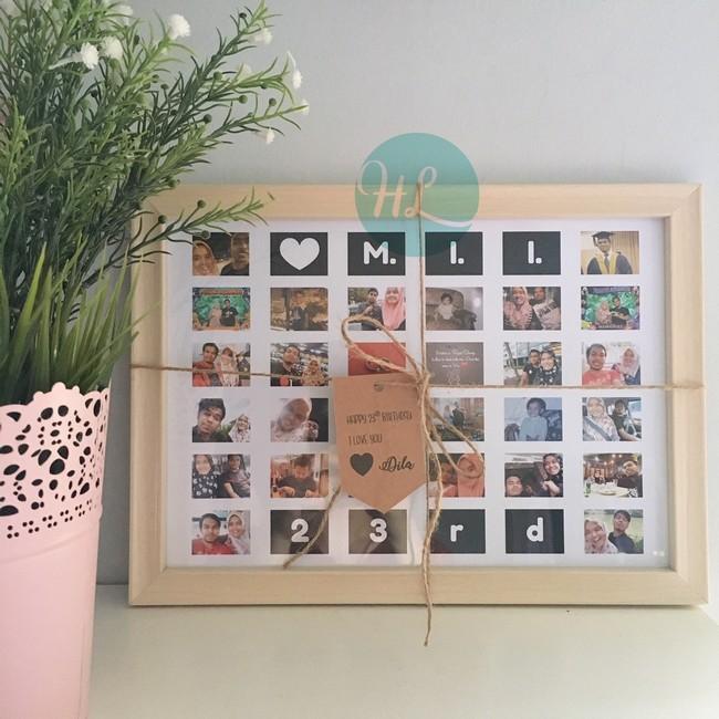 mini collage frame sesuai untuk hadiah harijadi