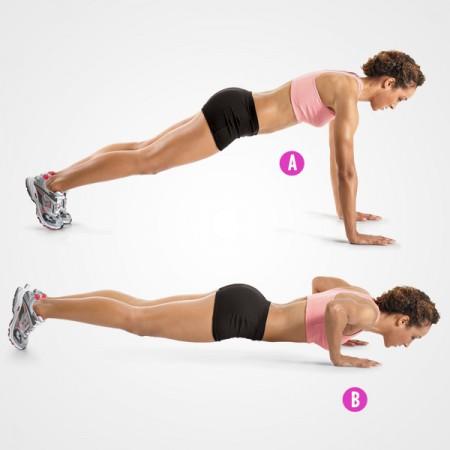 senaman push up untuk cantikkan payudara dan punggung