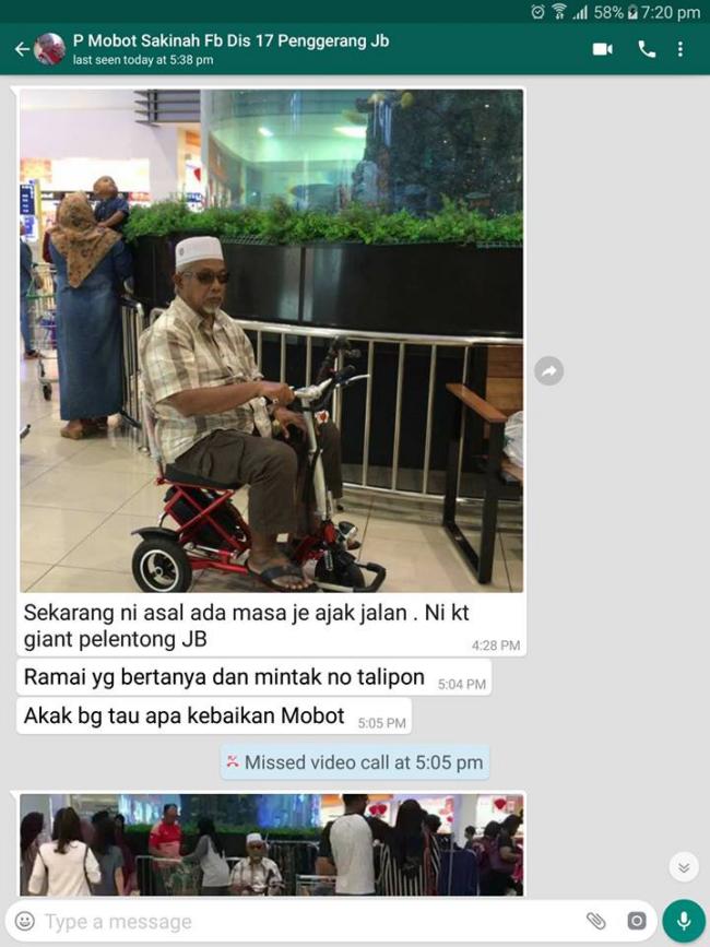 seronok berjalan dengan scooter mobot wheelchair murah