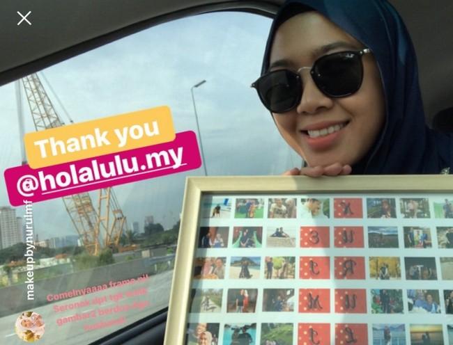 testimoni pelanggan custom made collage frame dengan hola lulu (3)