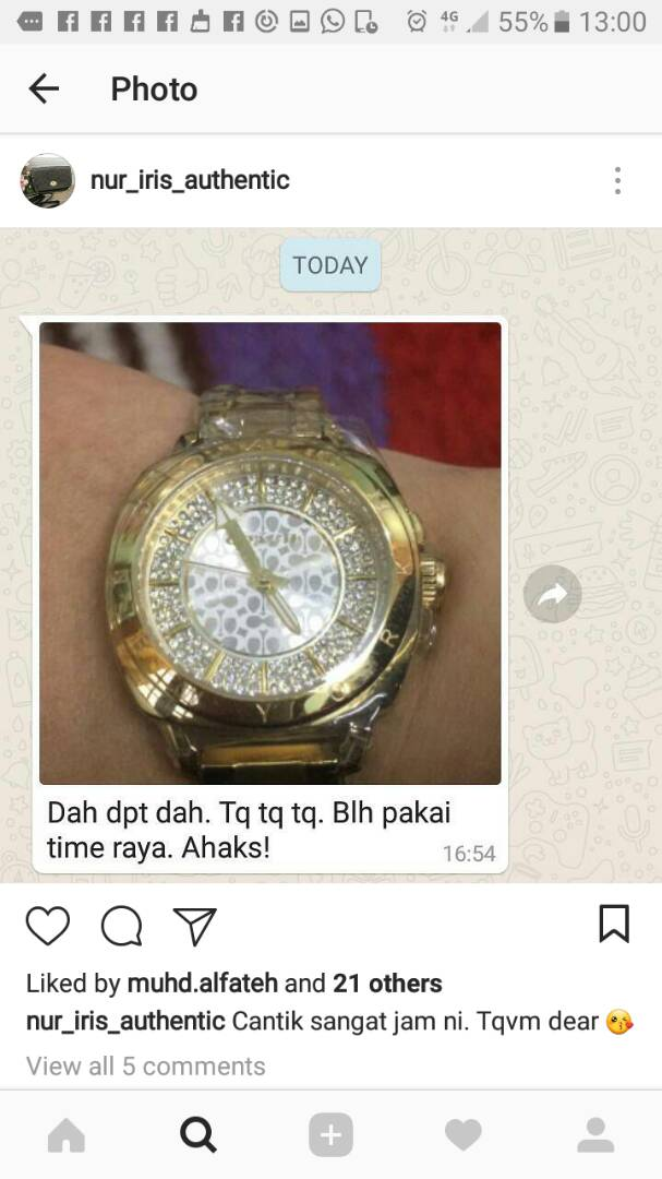 testimoni pembeli jam tangan berjenama original dan murah (5)