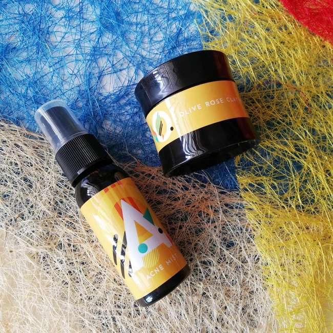 acnetox rose clay untuk hilangkan jerawat muka