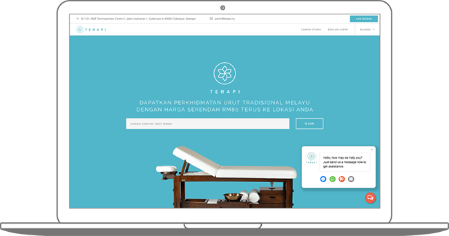 Website Corporate Massage in Kuala Lumpur